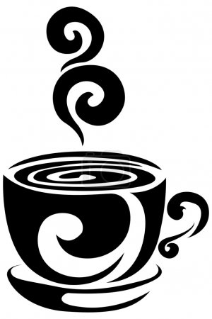 Steaming Coffee Cup Vector Decal