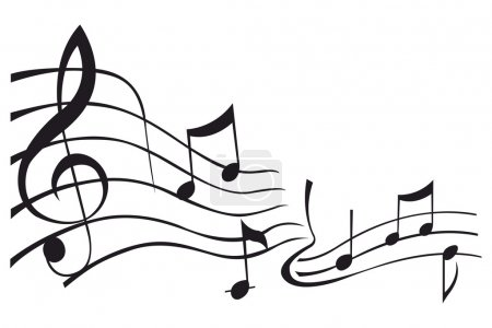 Musical Notes Vector Decals