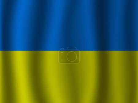 Ukraine waving flag