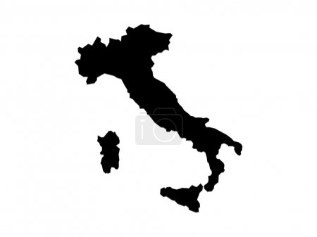 Italy map black