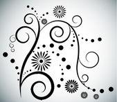 vector background with swirls
