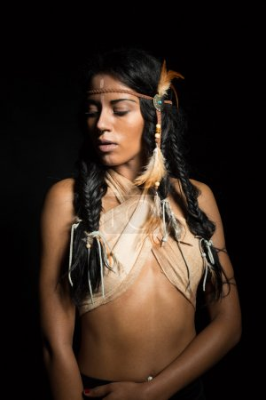 Photo for Pretty Native American woman - Royalty Free Image