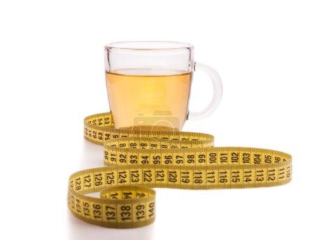 Slimming tea with meter