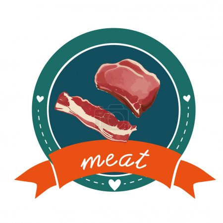 Meat logo sign