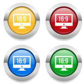 Buttons with  wide screen icons