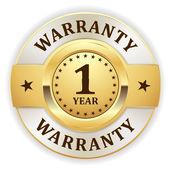 Gold 1 year warranty badge