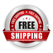 Round red free shipping badge