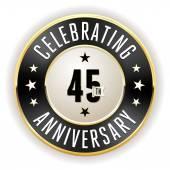 45. Jahrestag-Abzeichen schwarz