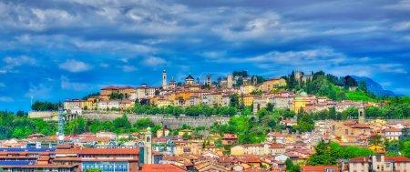 The city of Bergamo in Bergamo high