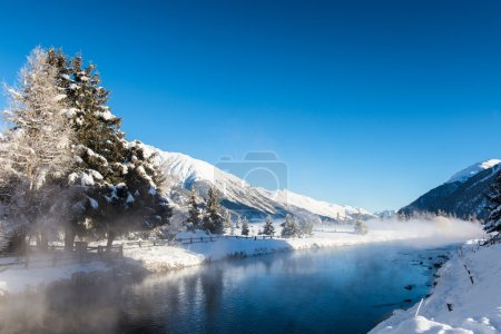 River in winter mountains