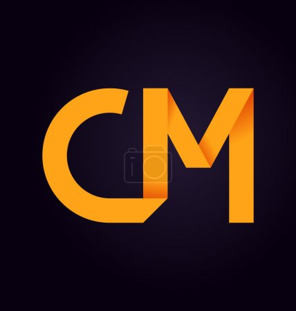 moderm minimalis initial logo CM