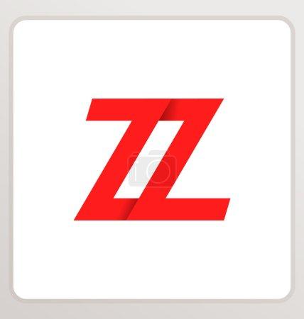 moderm minimalis initial logo ZZ