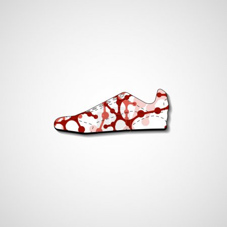 Illustration for Abstract illustration on sneaker, template editable. - Royalty Free Image
