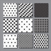 Cross Pattern Set for decoration paper home design concept clothing textile handicraft & scrap booking