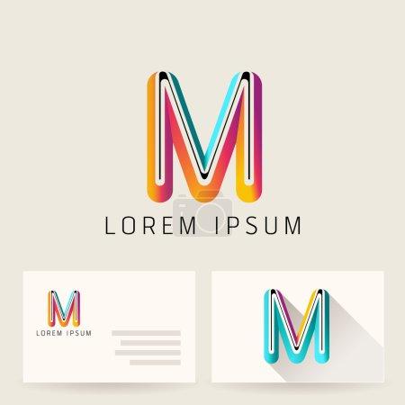 Letter Alphabet M Logo Icon