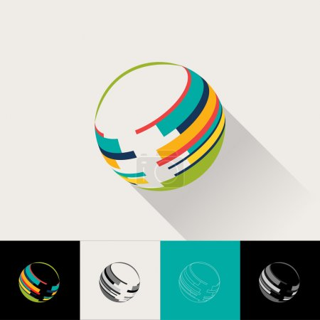 Logo and Abstract Web Icon