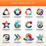 Set of abstract logo, web Icon and globe vector sy...