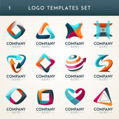Set of abstract logo web Icon and globe vector symbol Unusual icon set Graphic design of logo elements easy editable for Your design Modern logotype icon