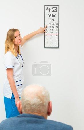 Elderly Patient at Optical Exam