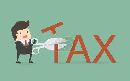 Illustration pour Déduction fiscale. Concept d'entreprise Illustration de bande dessinée . - image libre de droit