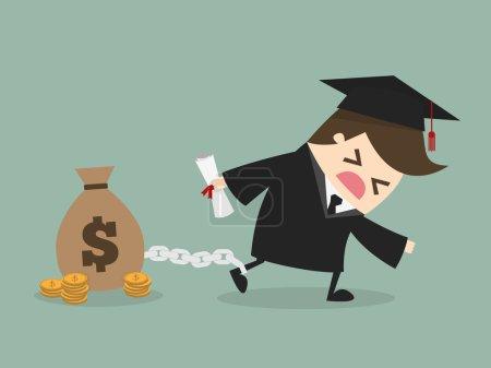 Illustration for Student debt - Royalty Free Image
