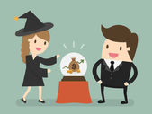 Female Fortuneteller eps 10 vector illustration