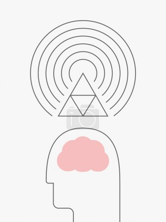 Thought Vibration, eps 10 vector illustration