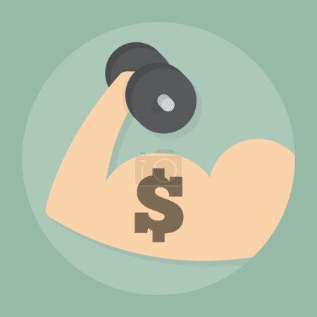 Financial fitness, eps 10 vector illustration