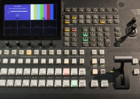 button on the control panel television equipment