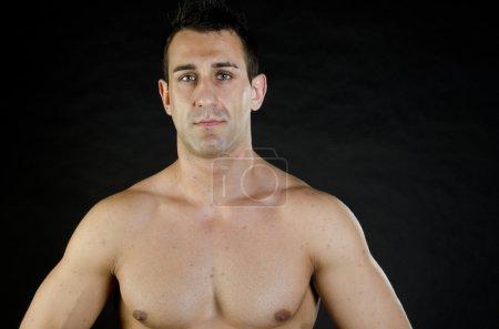 Handsome muscular guy.