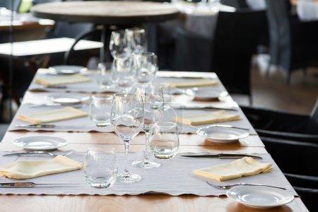 Elegant table set up for dinning room...