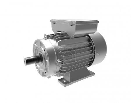 Photo pour Moteur électrique. Image 3D. Isolé sur blanc - image libre de droit
