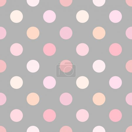Illustration for Dusty pink polka dot seamless pattern. Vector illustration - Royalty Free Image