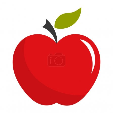 Illustration for Red apple. Vector illustration - Royalty Free Image