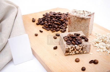 Photo for Traditional home made soap with coffe and rice - Royalty Free Image