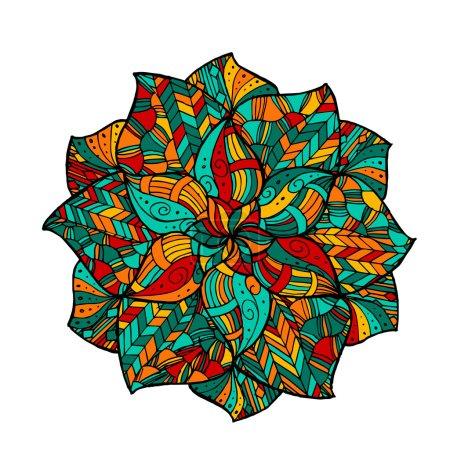 Zentangle mandala in vector