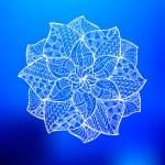 Flower mandala - hand drawn zentangle pattern. Per...