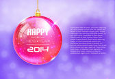 Happy New Year Card with glass ball