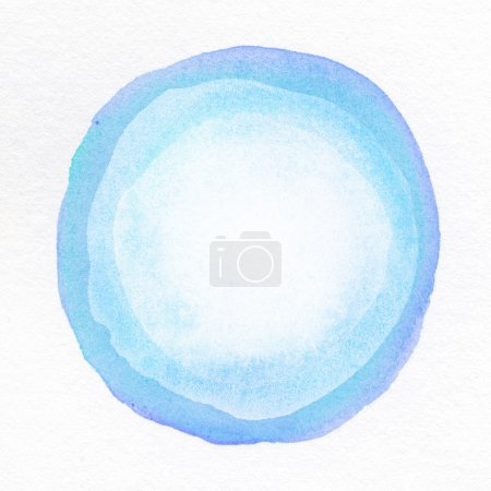 Photo for Watercolor hand painted circle on paper texture - Royalty Free Image