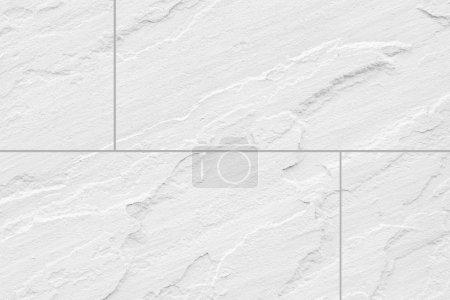 Photo pour Texture et fond sans couture de carrelage sol en pierre blanche - image libre de droit
