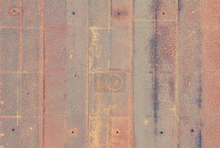 Texture de mur plaque métal rouille