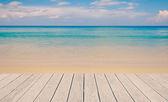 beautiful ocean and blue sky