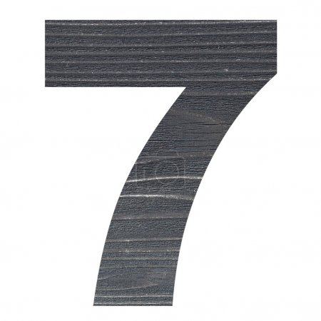 Number 7 with wooden photo background
