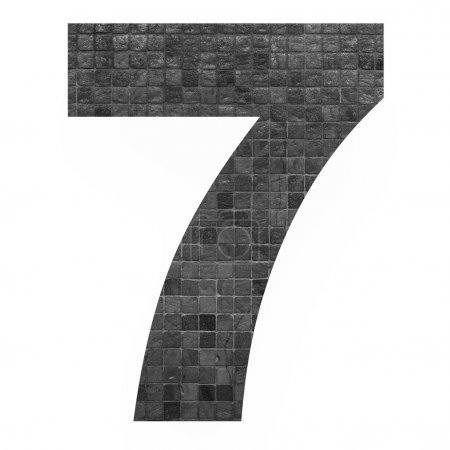 number with mosaic background