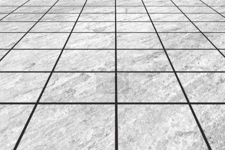 White earthenware floor tile