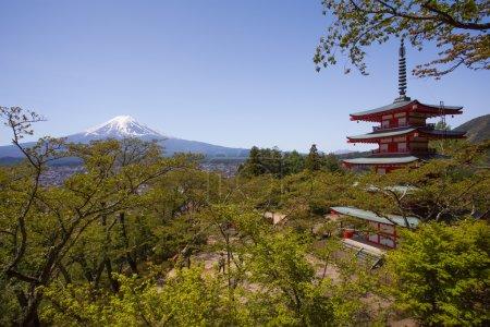 Japanese Chureito pagoda