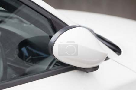 Side rear-view of mirror closed