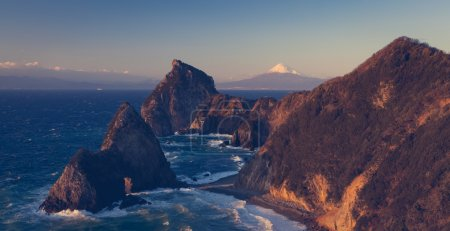 Mountain Fuji and Japan sea