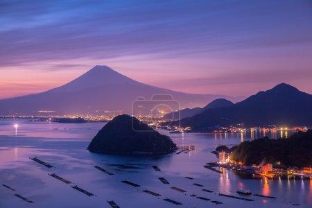 View of Mountain Fuji with Suruga bay