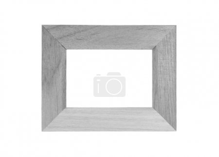 Photo for Gray Wood frame isolated on white background - Royalty Free Image